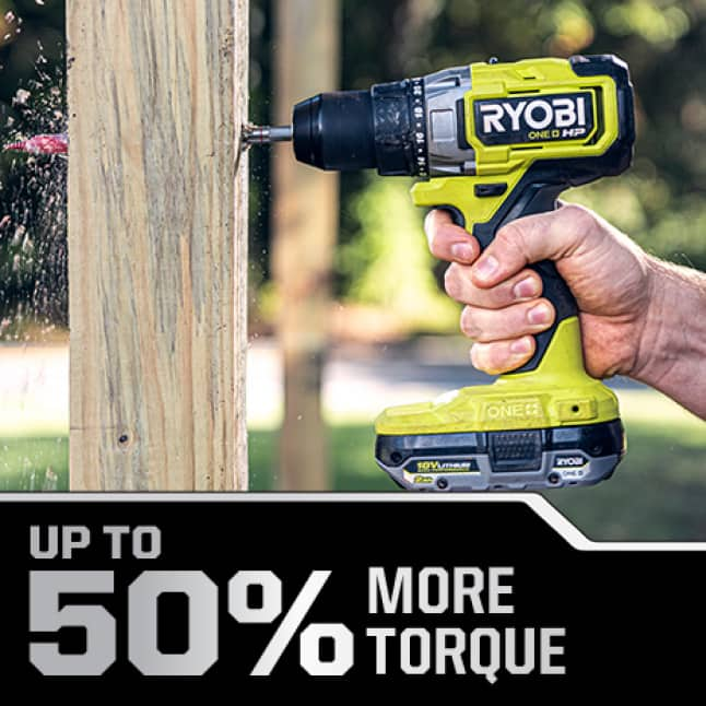 Drill/Driver: Up to 50% More Torque