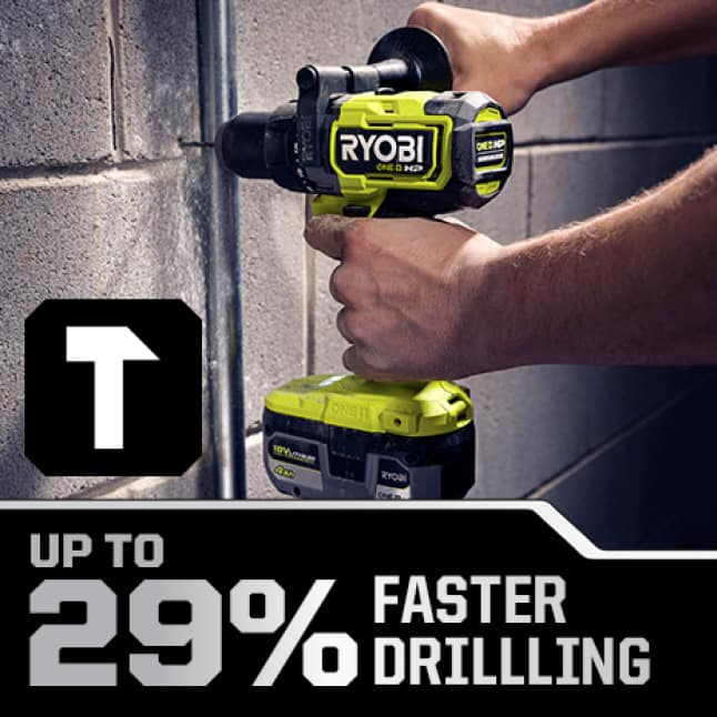Hammer Drill: Up to 29% Faster Drilling in Hammer Mode