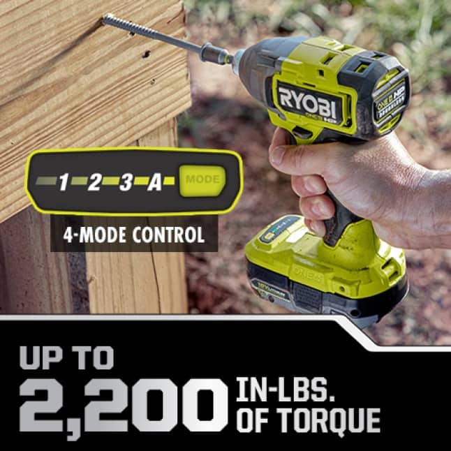 Impact Driver: Up to 2,200 in-lbs. of Torque
