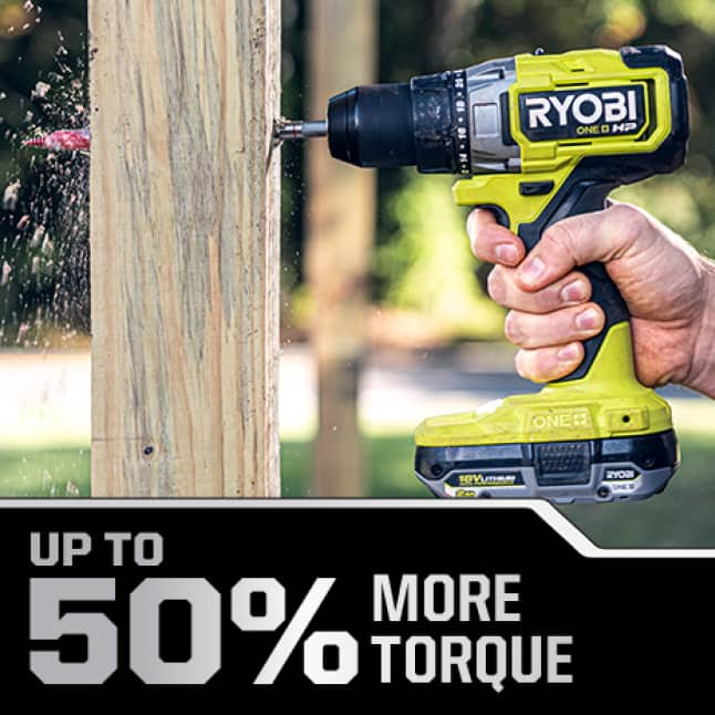 Up to 50% More Torque