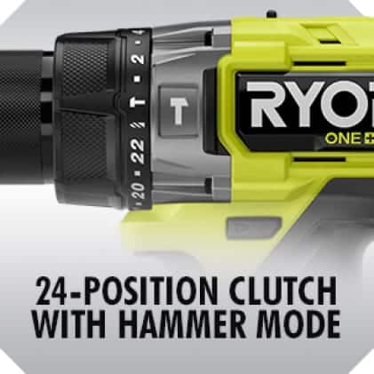 24-Position Clutch with Hammer Mode
