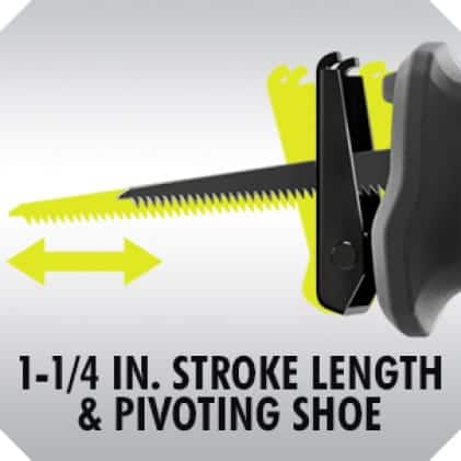 1-1/4 in. Stroke and Pivoting Shoe