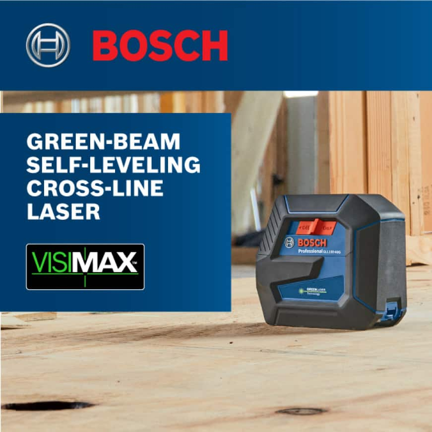 100 ft. Green Laser Level Self-Leveling with VisiMax Technology, Adjustable L-Bracket Mount and Hard Carrying Case