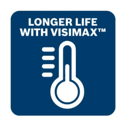 Longer life with Bosch exclusive VisiMax technology.