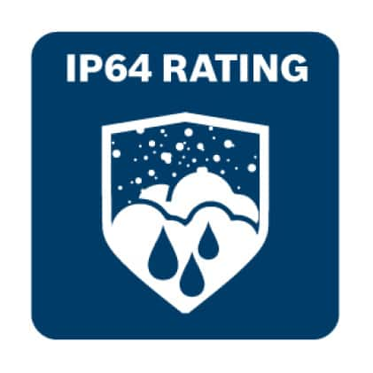 IP64 Rating for dependable operation.