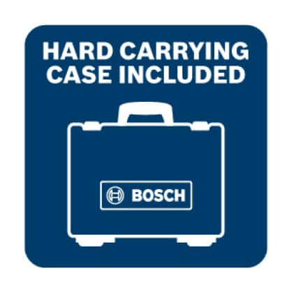 Hard carrying case included for added tool protection.