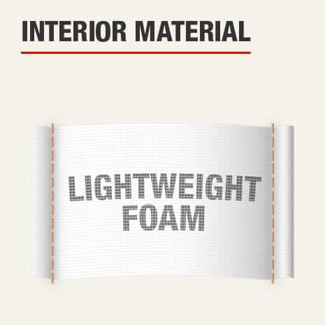 The interior material for this knee pad is lightweight foam