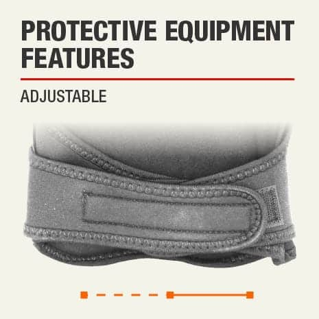 The protective feature of this knee pad is that it is adjustable