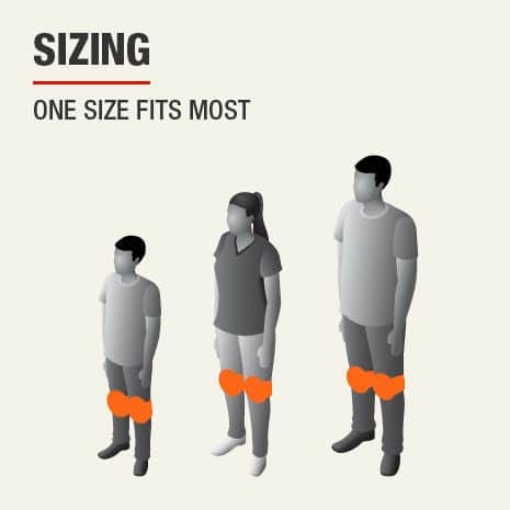 This knee pad sizing is one size fits most