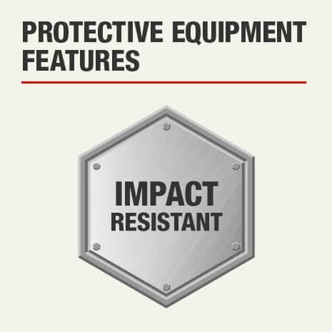 The protective feature of this knee pad is that it is impact resistant