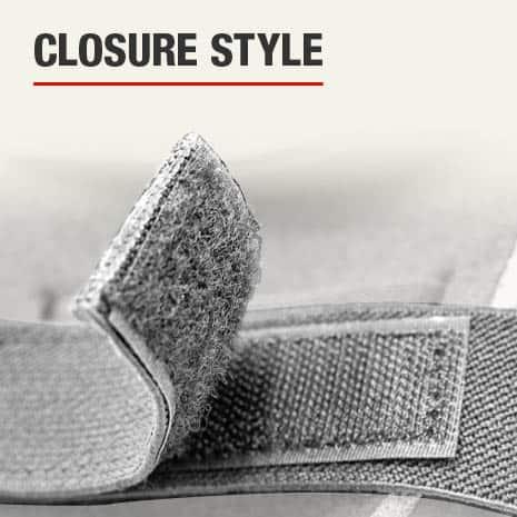 The closure type is velcro