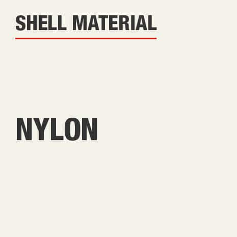 The shell material is nylon