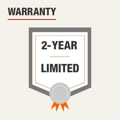 This products offers a 2 year limited warranty