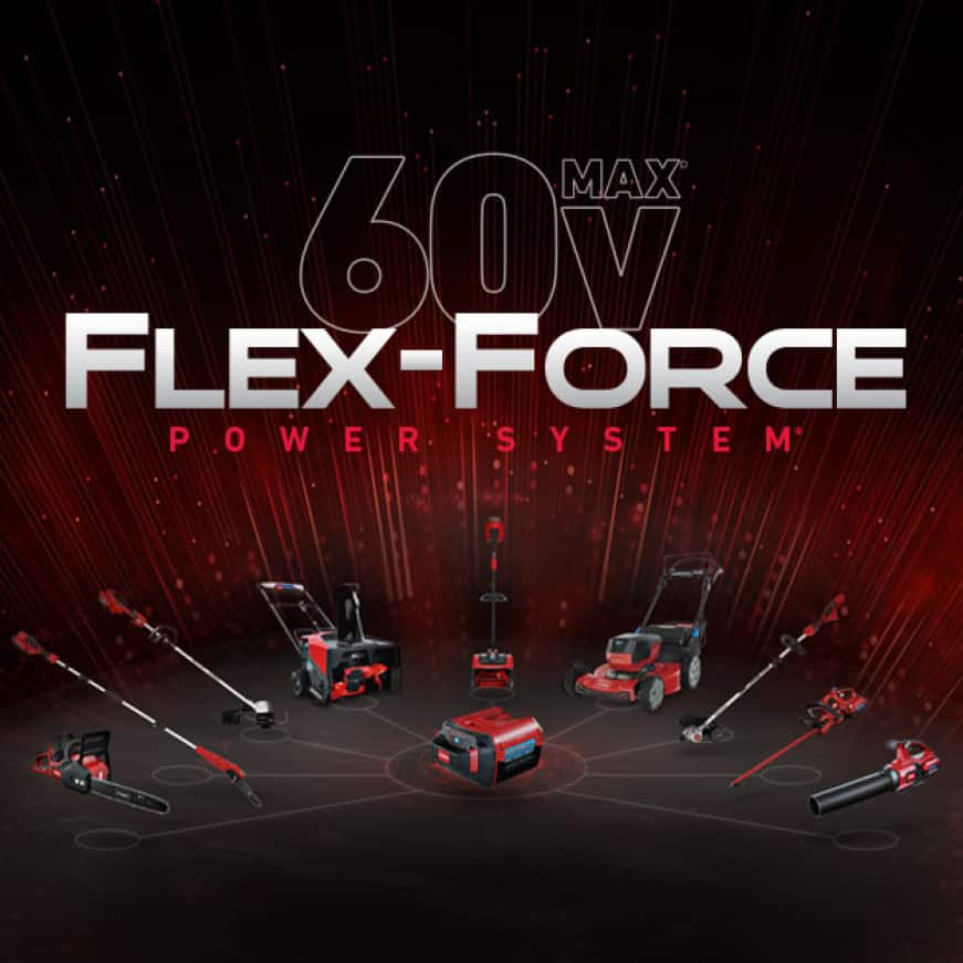 Nine 60 Volt battery powered Toro product lines