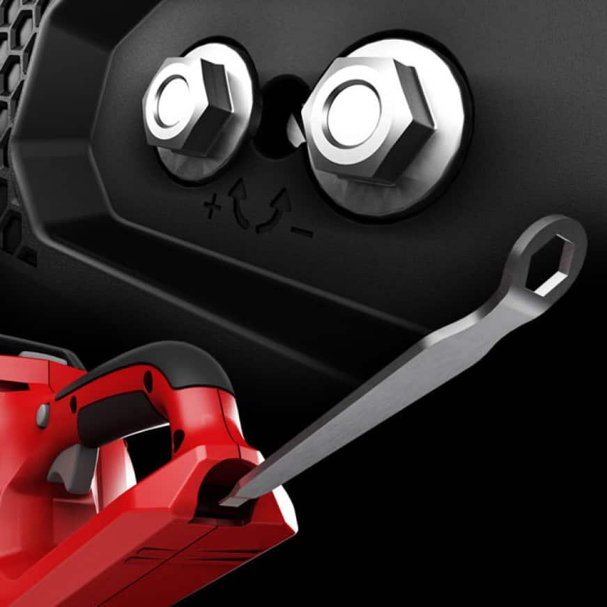 3D rendering of on-board tensioning tool storage