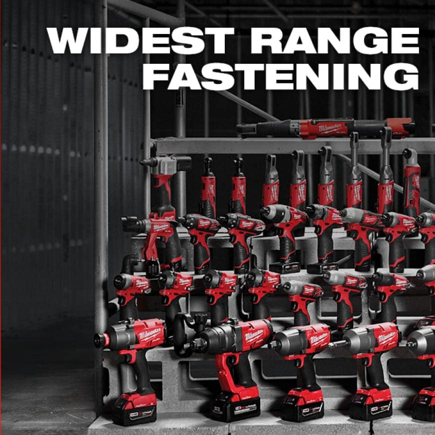Milwaukee offers professionals the largest range of cordless fastening solutions.