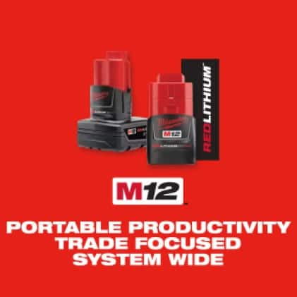 The Milwaukee M12 System features over 100 cordless tools