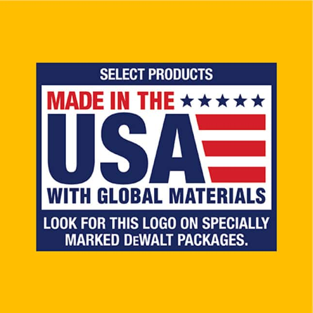 Made in the USA with global materials.