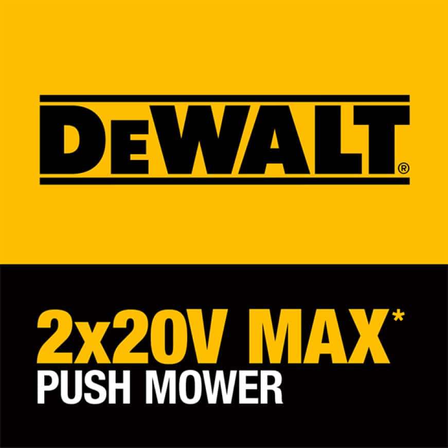 DEWALT 2x20V MAX Brushless Direct Drive Cordless Push Mower is perfect for properties up to 1/2 acre.
