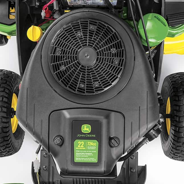 Image showing the V-Twin engine of the S120 Lawn Tractor