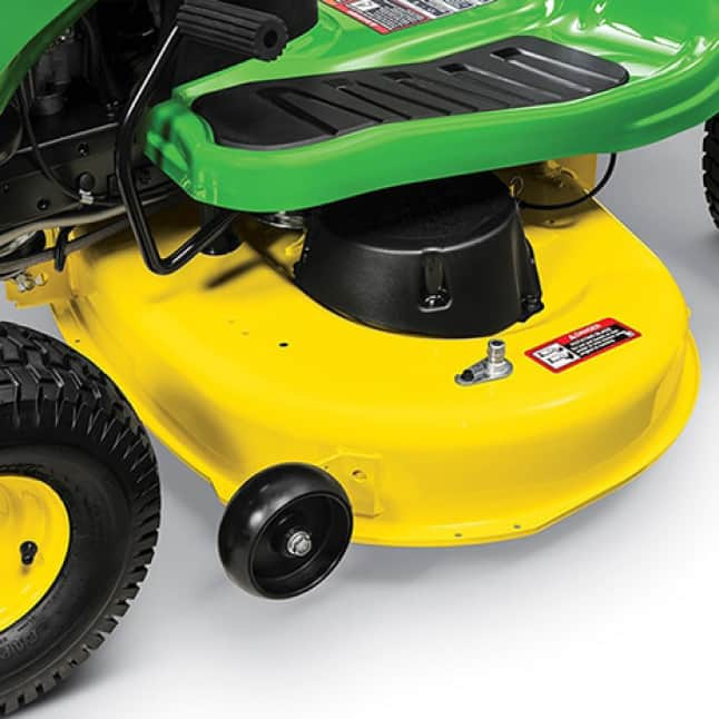 """Image showing the 42"""" deck of the S120 Lawn Tractor"""
