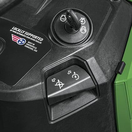Image showing the cruise control on the S120 Lawn Tractor