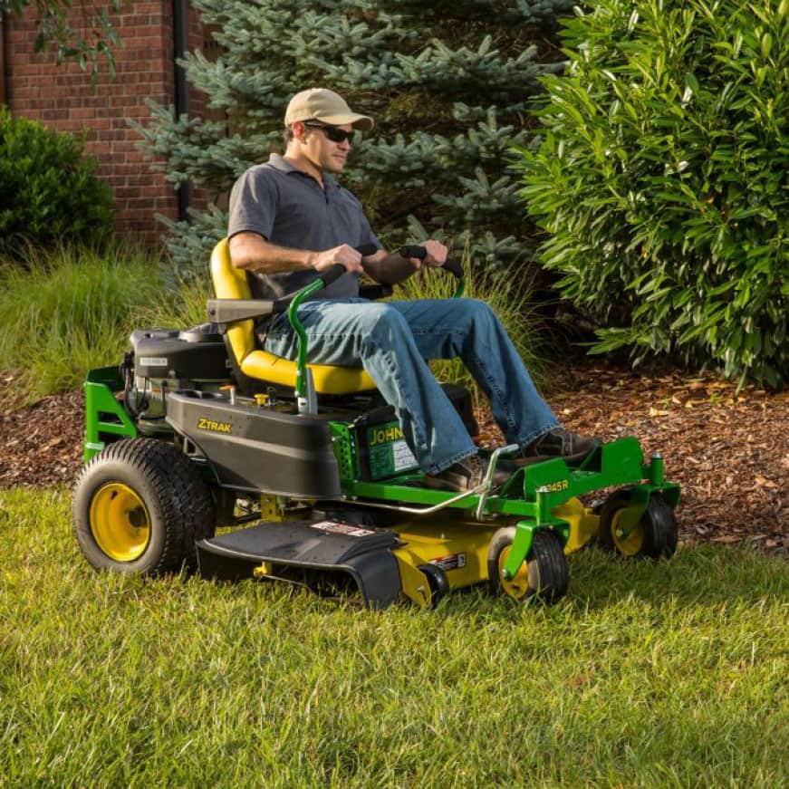 Image shows operator mowing with the Z345R