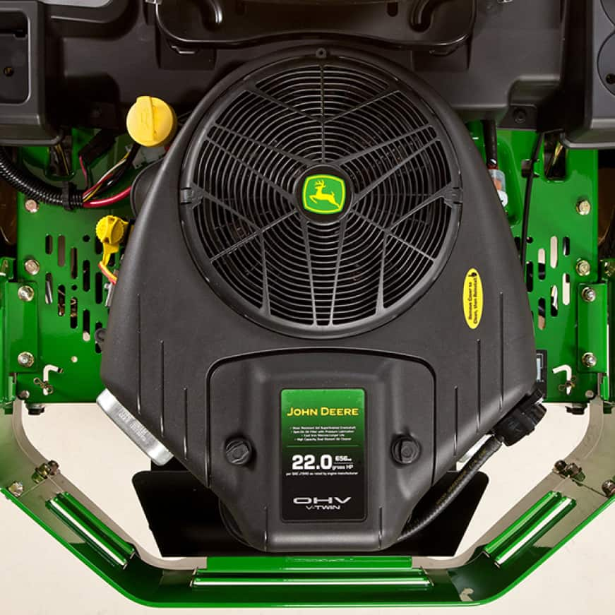 Image shows the 22 hp V-Twin engine for the Z345R