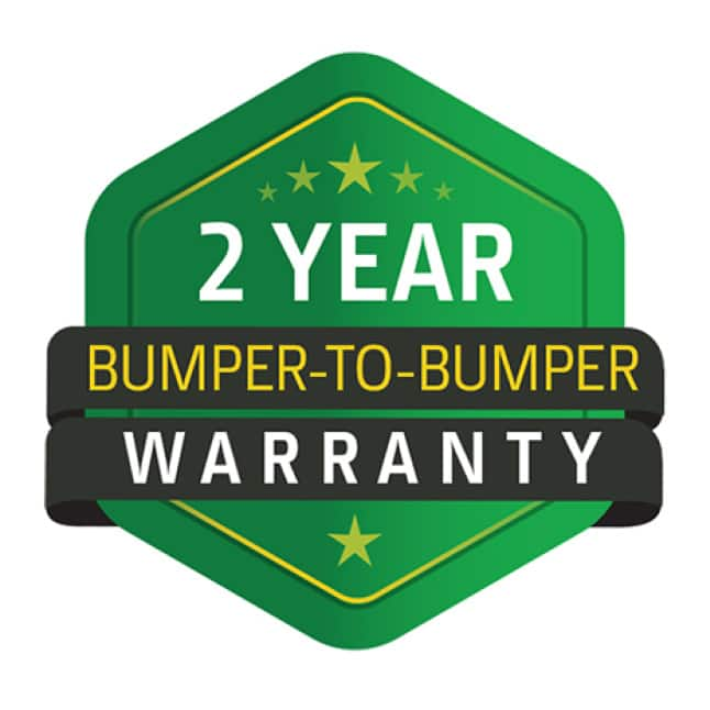 Image showing 2 year bumper to bumper warranty for the Z345R mower