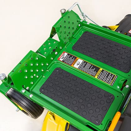 Image shows the floormats  of the Z345R Mower