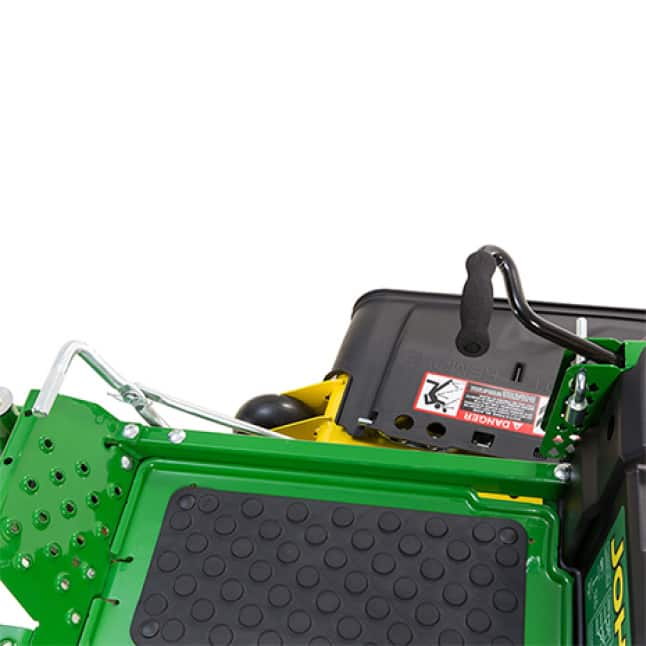 Image showing pedal that lifts mower deck