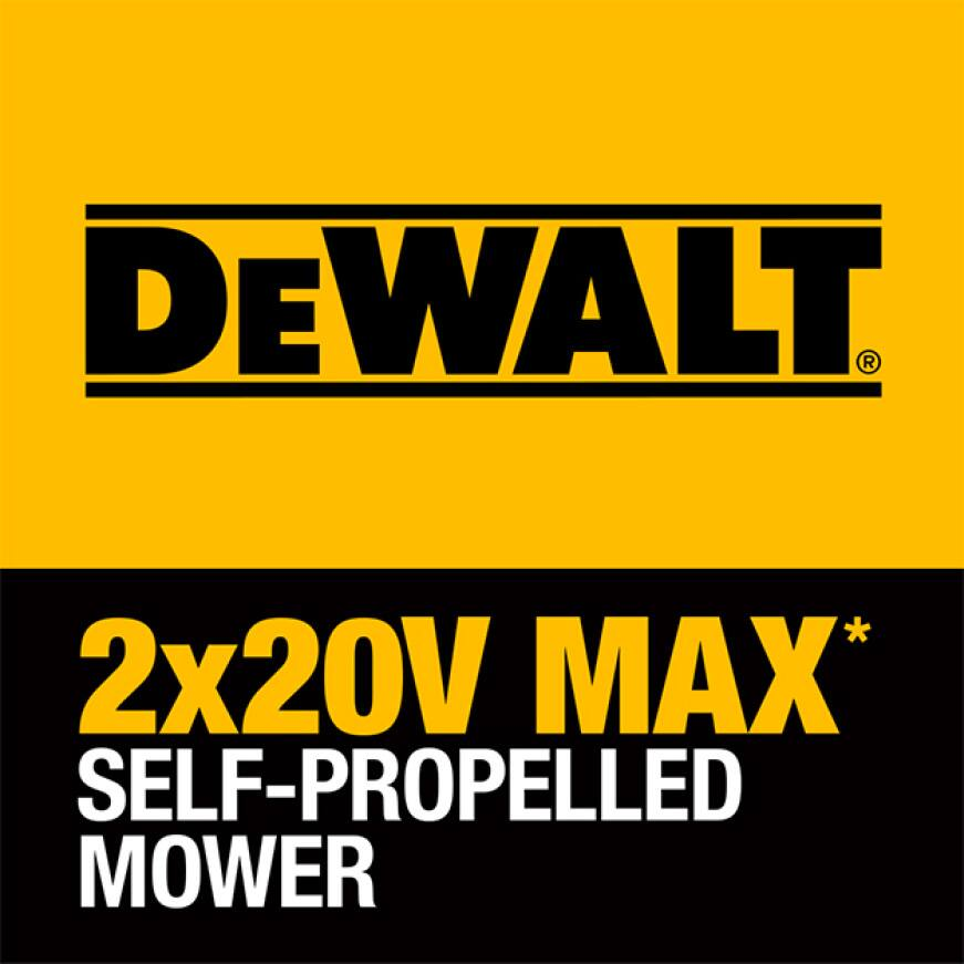 DEWALT 2x20V MAX Brushless Direct Drive Cordless Self-Propelled Mower is perfect for properties up to 1/2 acre.