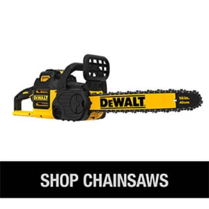 Shop the full line of DEWALT Cordless Chainsaws