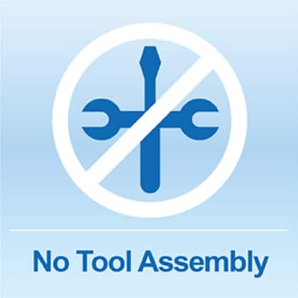 Simple No-Tools Assembly