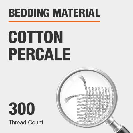 300 Thread Count Cotton Percale Bed Sheets