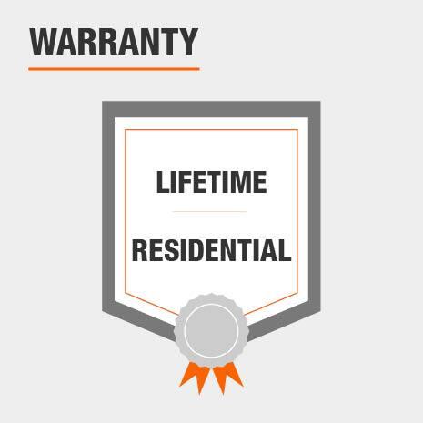 Lifeproof hardwood has a lifetime residential warranty