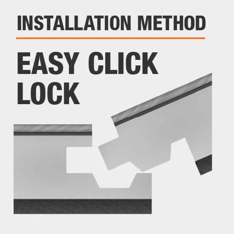 Lifeproof hardwood flooring is easily installed using the DIY friendly click-lock method