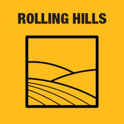 Easily mow rolling hills