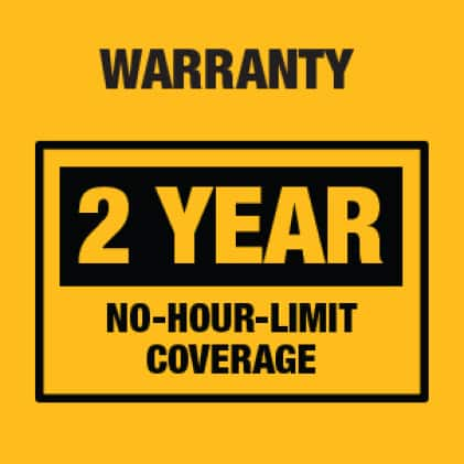 Industry leading 2-Year Warranty