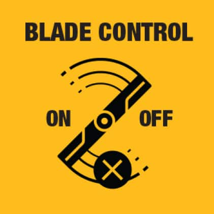 Turn blades on or off with Electric PTO