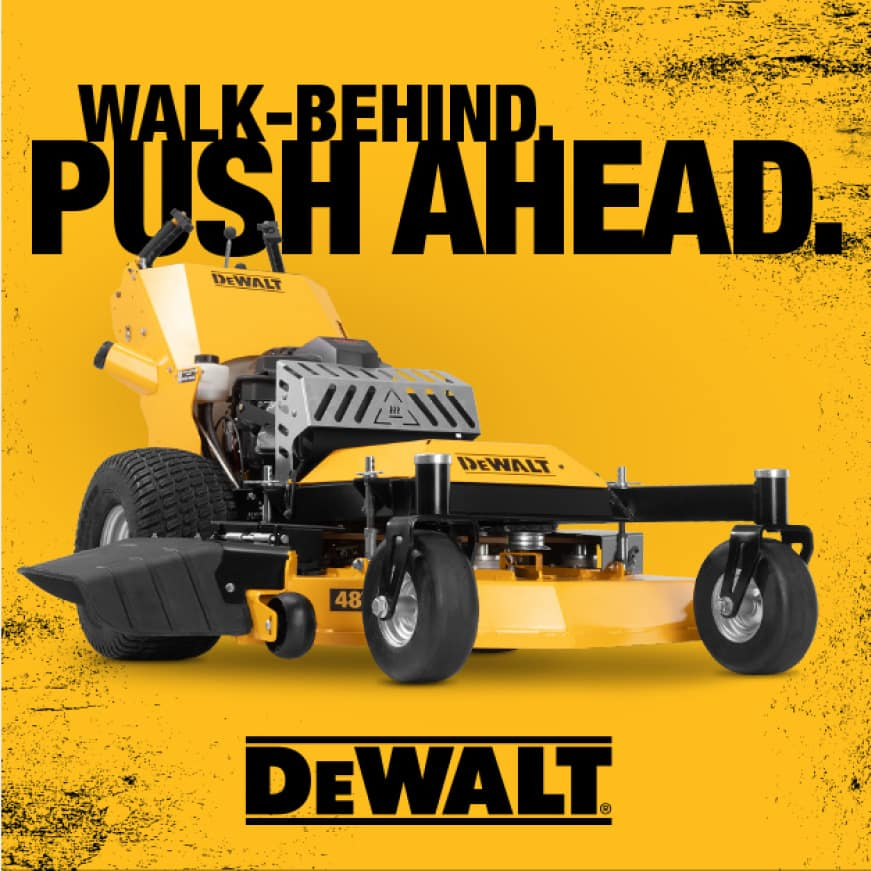 Dewalt Hydro Walk-Behind Mower, Walk-behind, push ahead