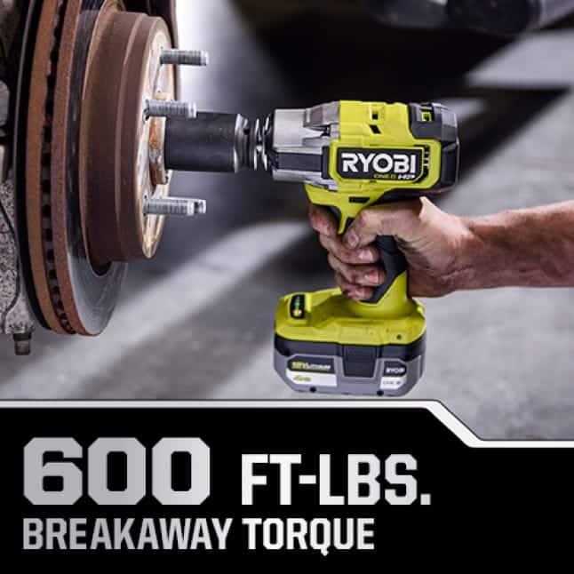600 ft-lbs. Breakaway Torque