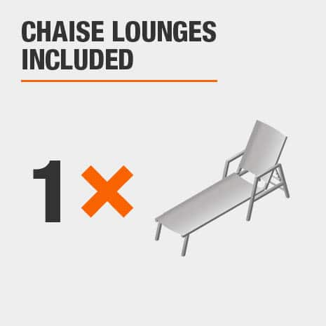 Chaise Lounges Included