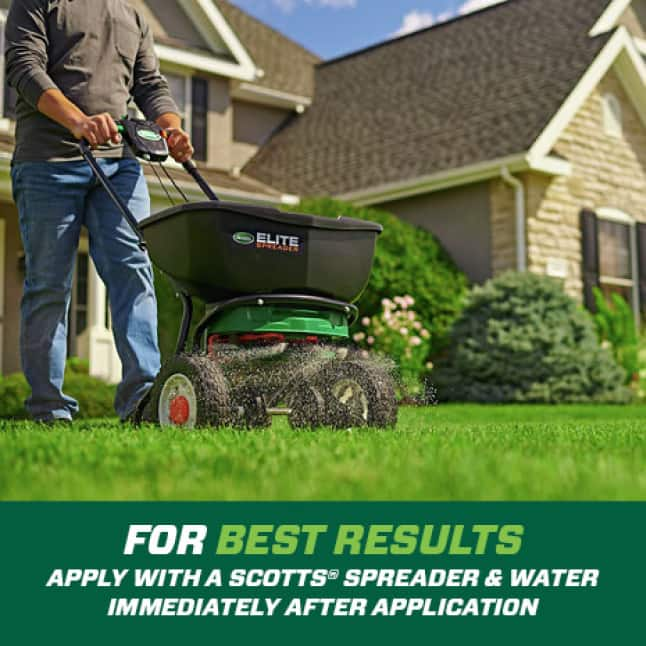 Apply in early spring at first sign of insect activity. For best results, apply with a Scotts Spreader and water in immediately after application.