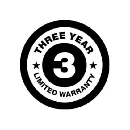 3 Year Limited Warranty