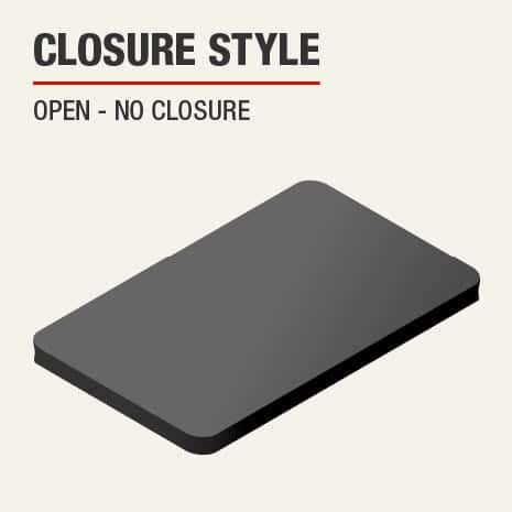 The closure on this kneeling pad is open