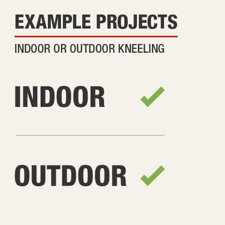 A sample project use for this kneeling pad is indoor or outdoor kneeling