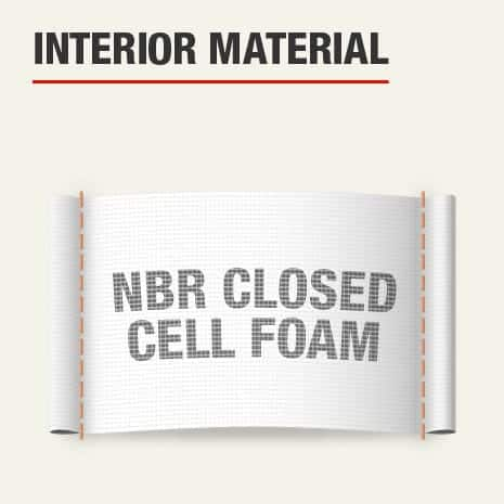 The interior material for this knee pad is NBR Closed Cell Foam