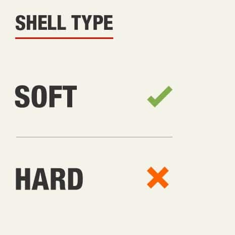 The shell type for this knee pad is soft shell