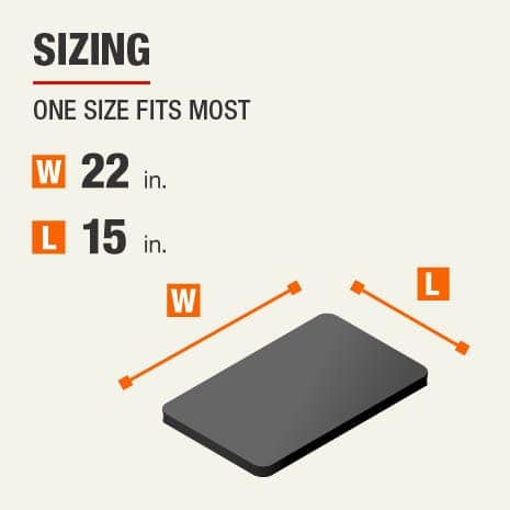 This kneeler  sizing is one size fits most